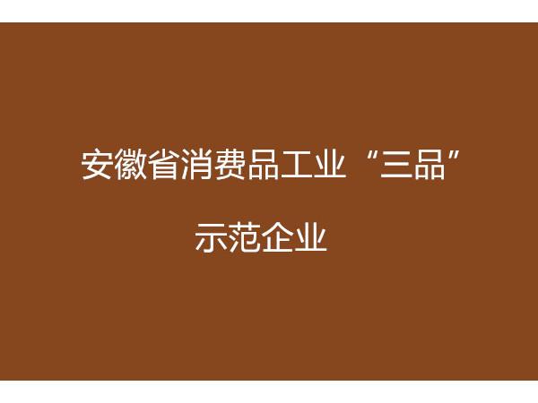 """安徽省消费品工业""""三品""""示范企业申报条件"""