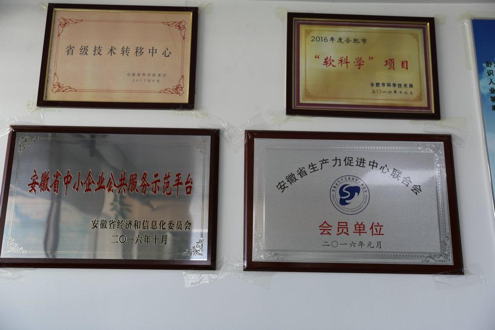安徽卧涛荣誉证书