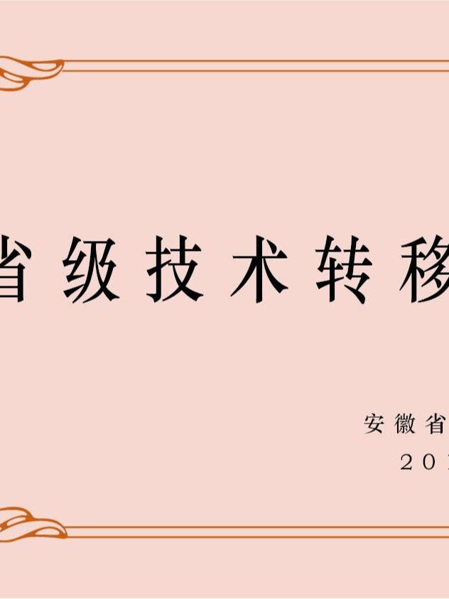 安徽卧涛认定为安徽省技术转移服务机构